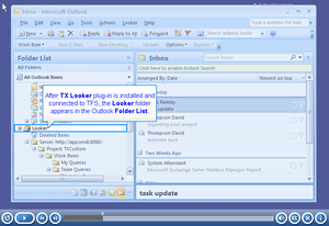 Looker task based email screenshot